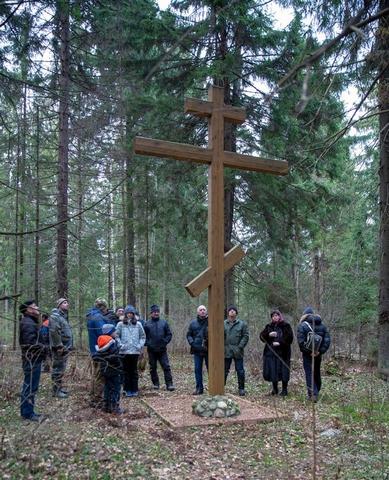 Открытие Памятных знаков вблизи деревни Петряиха